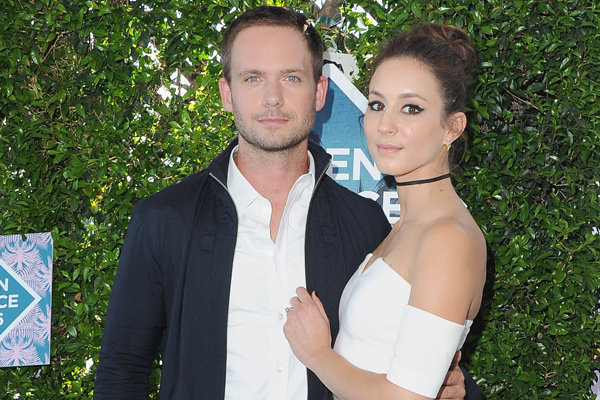 Patrick J. Adams and Troian Bellisario got married and the photos are completely breathtaking