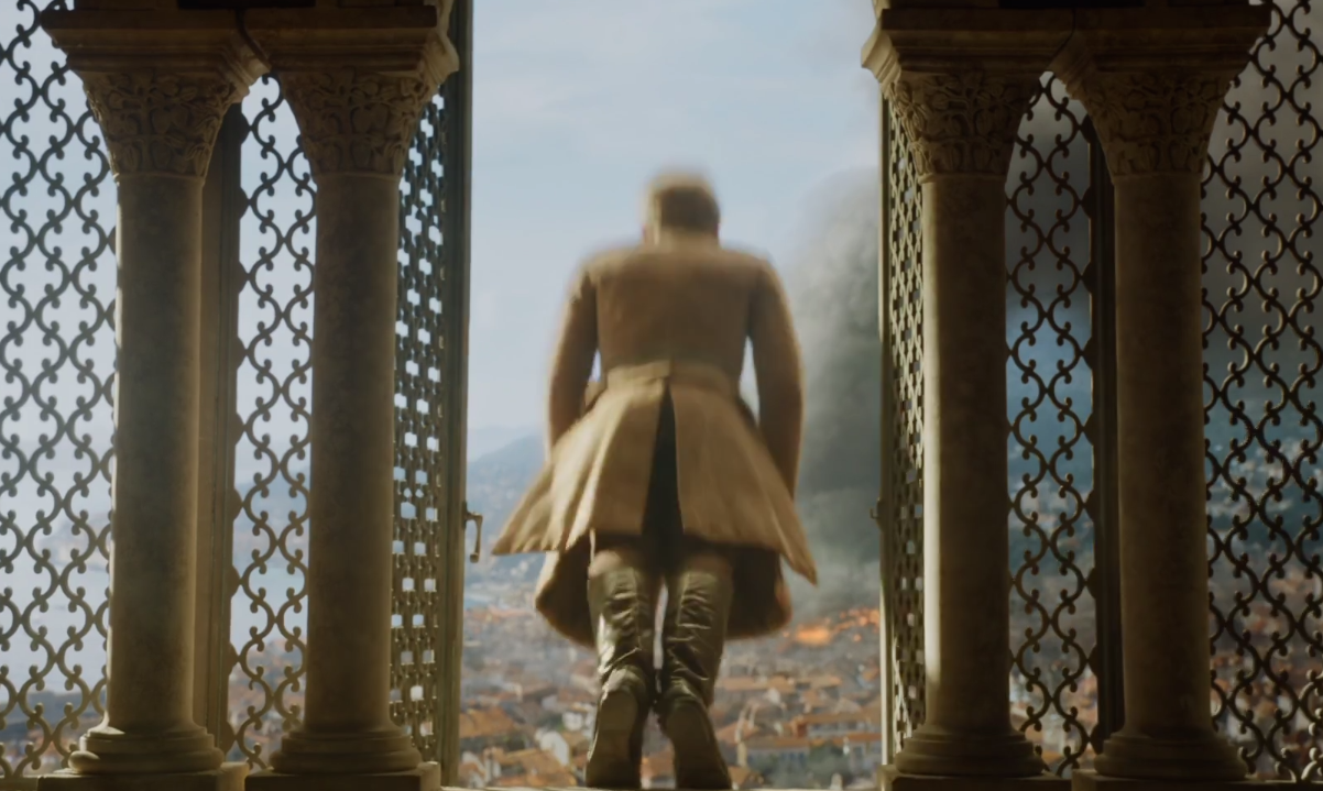 "Here's the behind-the-scenes story of that ~fall~ during the ""Game of Thrones"" season finale"
