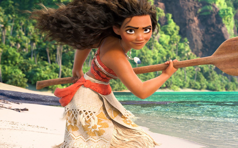 "The full scene of Moana singing ""How Far I'll Go"" is finally here to help make your week"