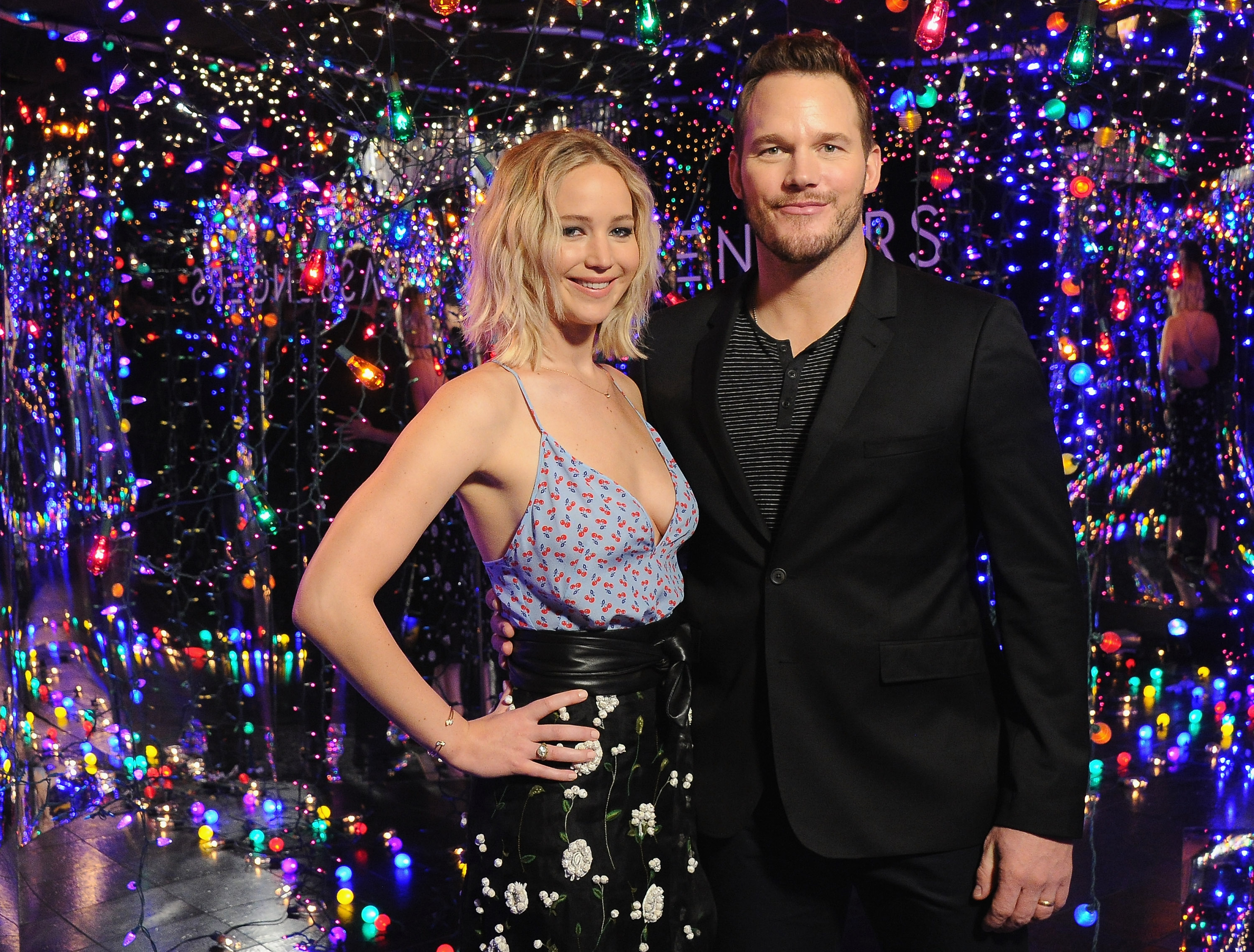 Jennifer Lawrence and Chris Pratt trade insults, and honestly, it's adorable