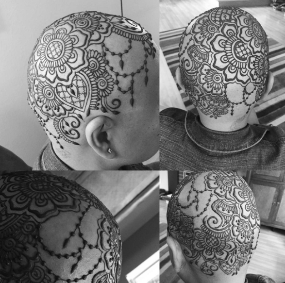 This artist gives free henna crowns to women who have lost their hair to chemotherapy, and they are gorgeous