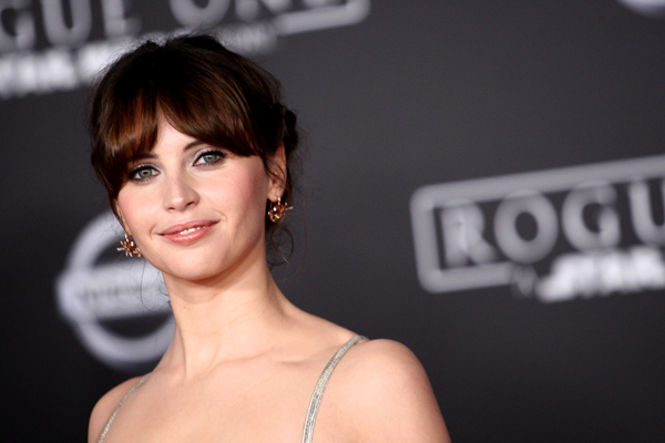 """Rogue One"" star Felicity Jones at her first ever red carpet appearances looks exactly, and nothing, like her"