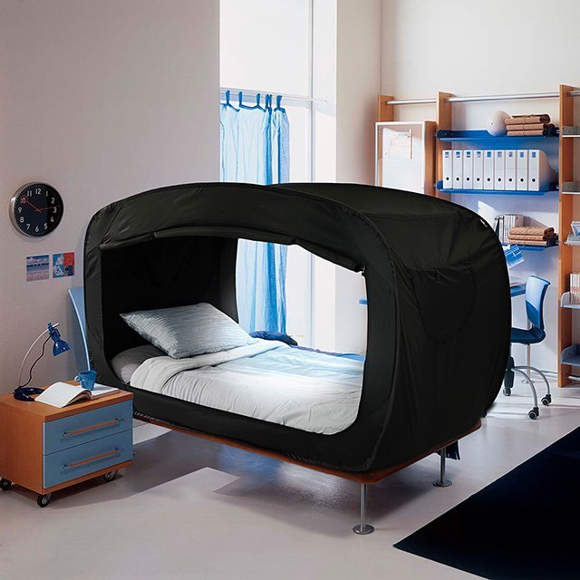 This bed that turns into a fort is perfect for anyone who suffers from anxiety