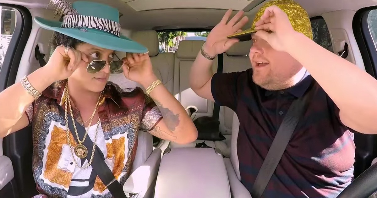Bruno Mars' Carpool Karaoke was so epic and funky that we can't stop dancing