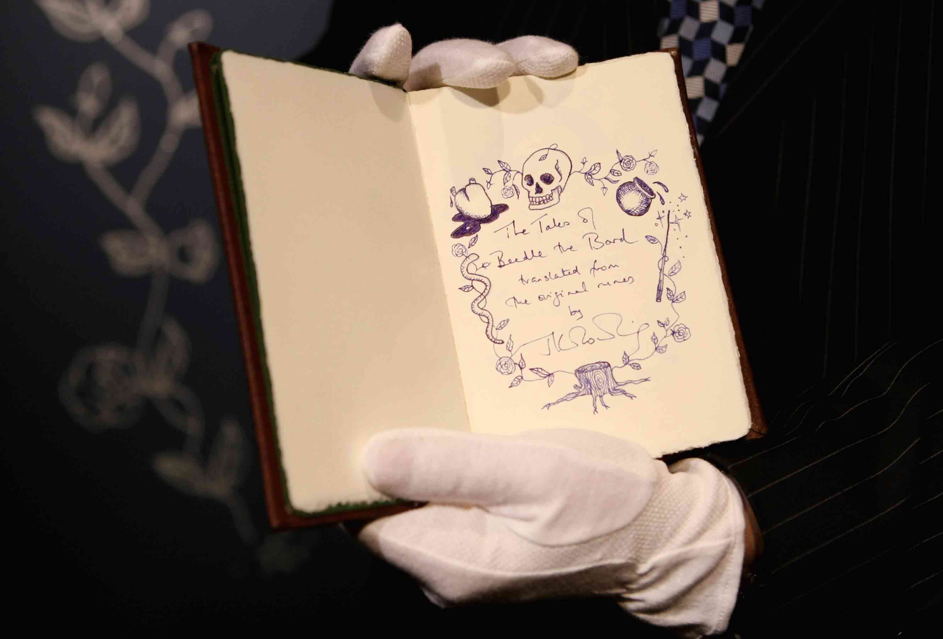 this rare j k rowling book just for a lot of money at auction tales of beedle the bard