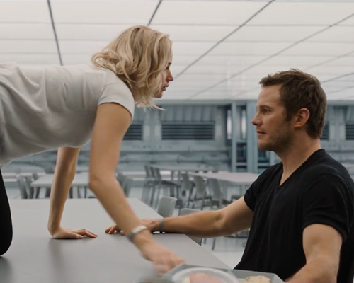 "Chris Pratt was actually naked for one scene in ""Passengers"" (even though he wasn't supposed to be!)"