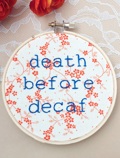 decaf embroidery