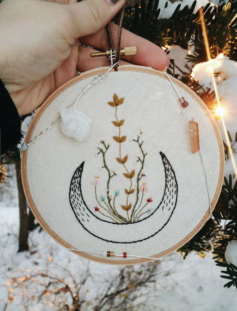 half moon embroidery