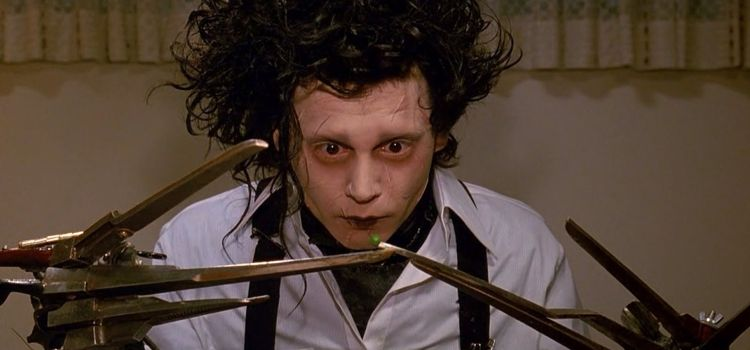 The Edward Scissorhands Snapchat lens is here and it's eerily perfect