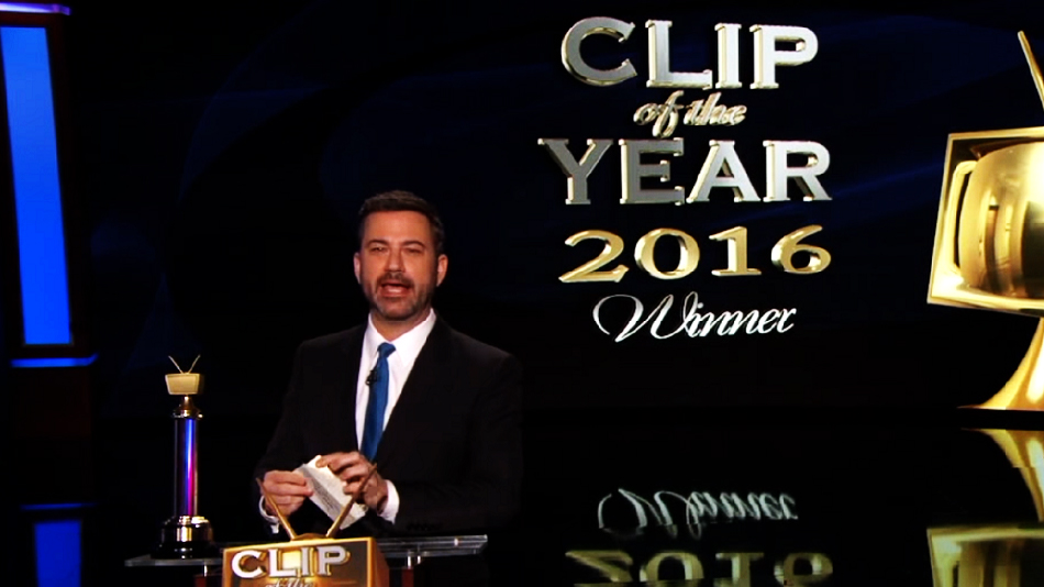 "Jimmy Kimmel unveiled his 2016 ""Clip of the Year"" last night, and it's a pretty solid choice"