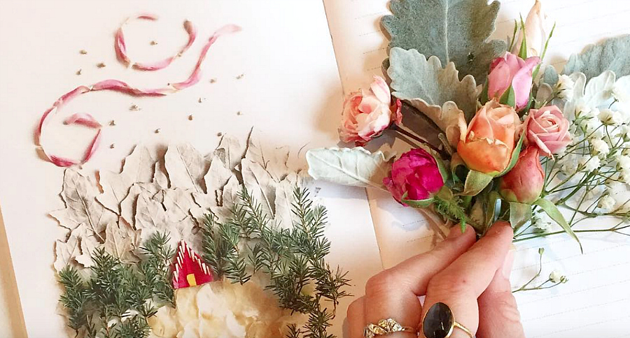 This nature artist turns flowers into art, and it's *so* beautiful