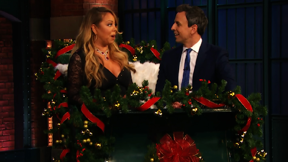 Seth Meyers interviewed Mariah Carey while on a sleigh, and it was everything we imagined it'd be