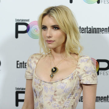 Emma Roberts is wearing that one pair of earrings we all need in our jewelry boxes