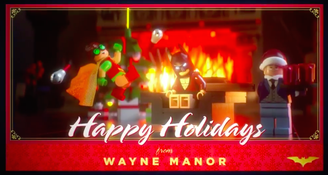 This LEGO Batman holiday greeting card is our new favorite holiday treat