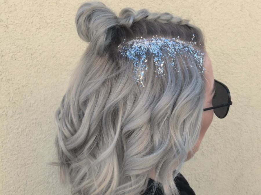 OMG this artsy ice queen hairstyle is the best festive holiday party hair inspo we've seen yet