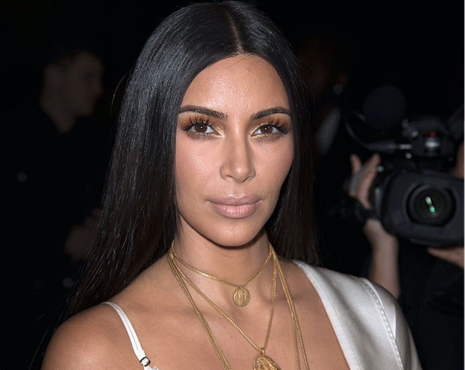 Kim Kardashian wore a lip ring to her family's annual Christmas party