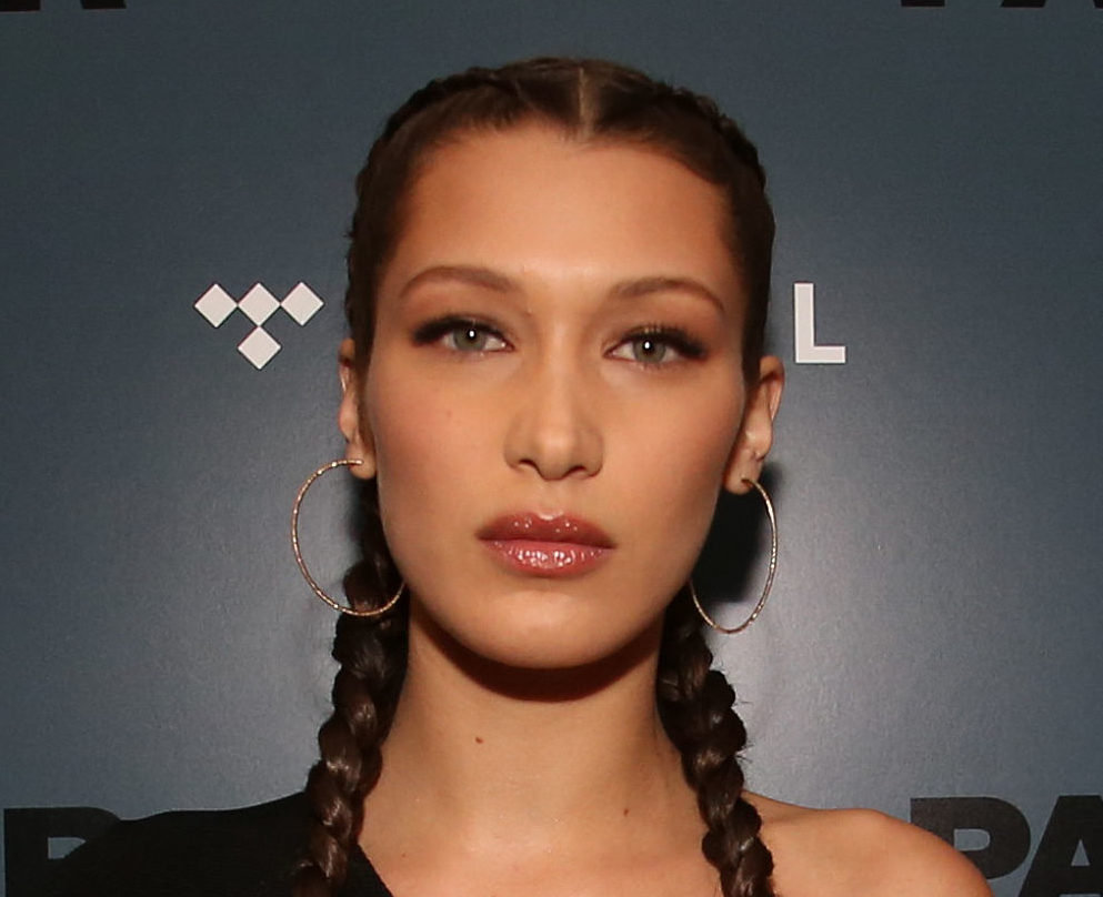 "Bella Hadid's killer outfit giving is major ""Nightmare Before Christmas"" vibes in the BEST way"