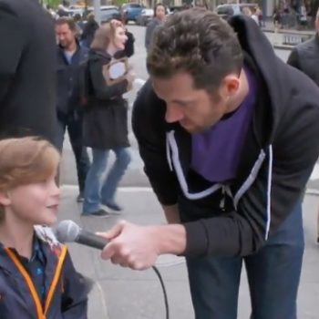 Billy on the Street screaming at people with child-actor Jacob Tremblay is our everything right now