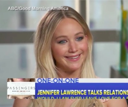 Jennifer Lawrence says she'd quit acting if she found real love and we're like WHOA
