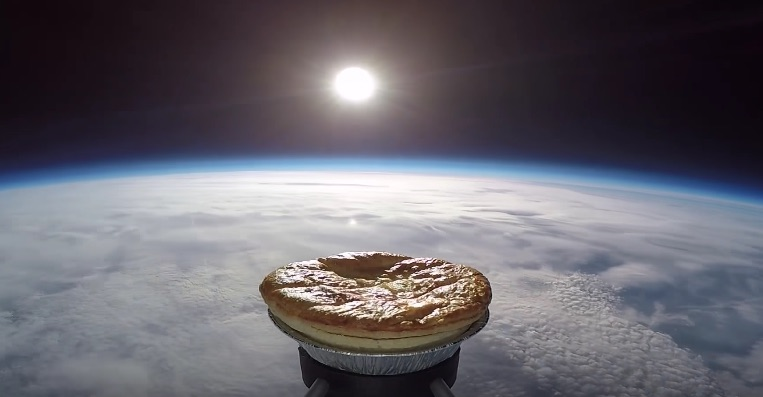 Some British people sent a meat and potato pie into space, which is so very British of them
