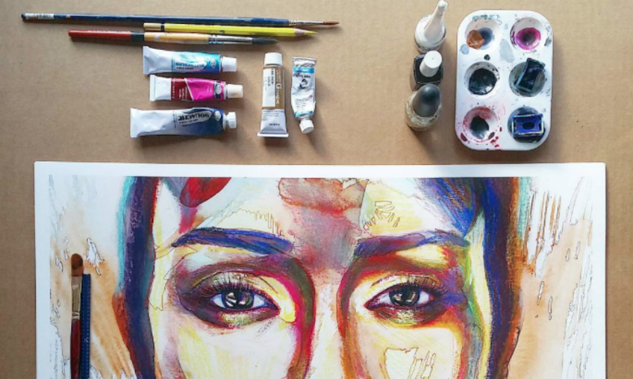 This artist records herself creating amazing art, and the process is so strangely calming