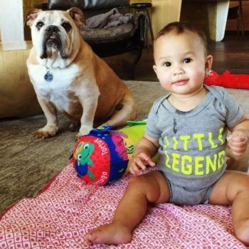 """This video of Chrissy Teigen making Baby Luna laugh with the word """"boo"""" has just melted us forever"""