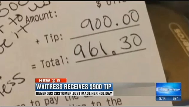 This pregnant server got a $900 tip, which is exactly what we needed to hear today