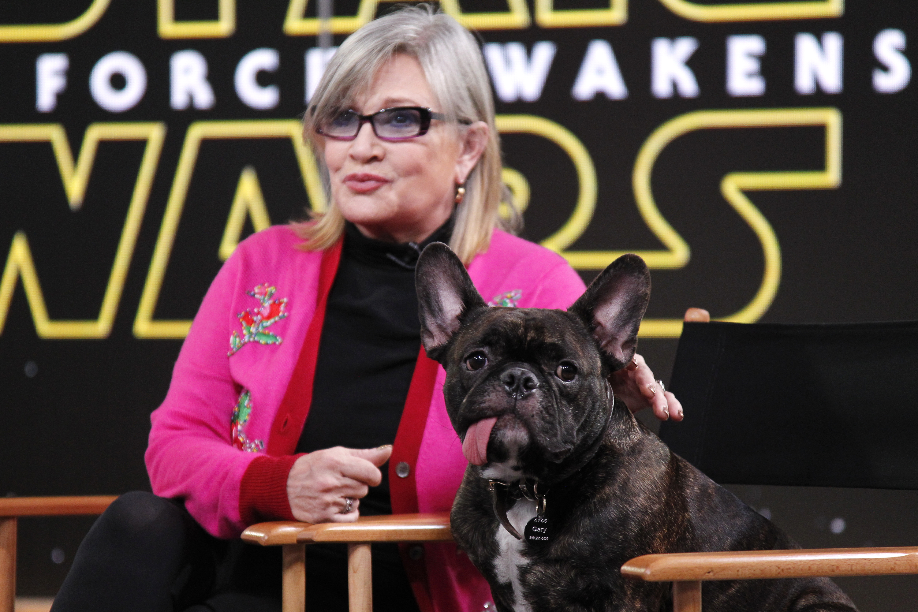 We've got an update on Carrie Fisher, and it is GOOD news