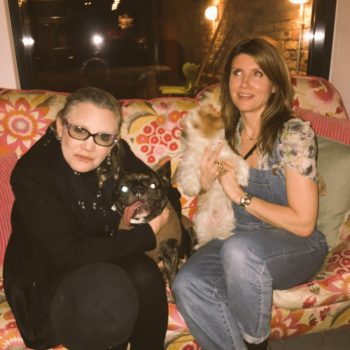 Carrie Fisher's beloved dog Gary is with her at the hospital, and we think that's so sweet