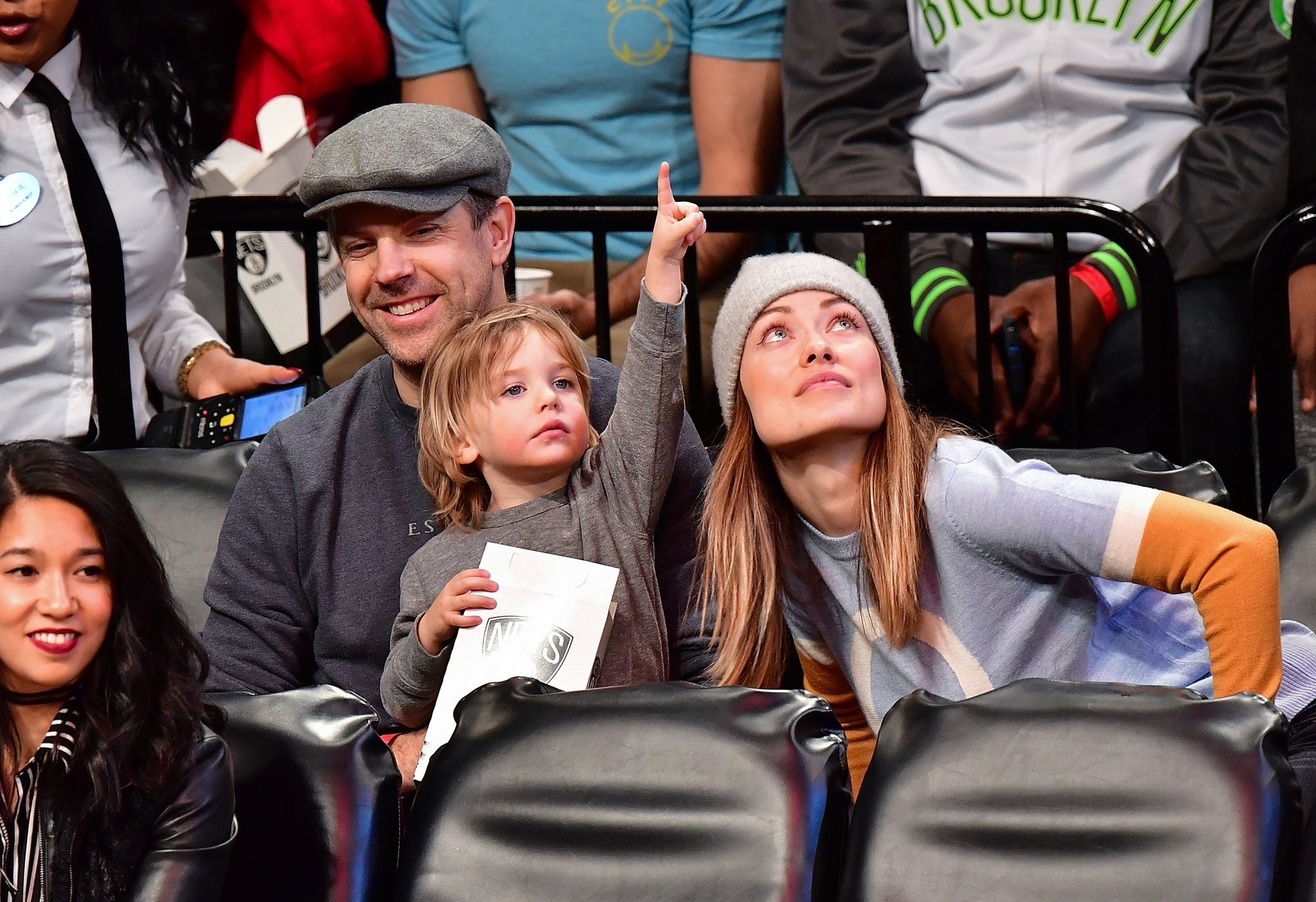 Olivia Wilde and Jason Sudeikis took their son Otis to a Nets game and this family is just too cute