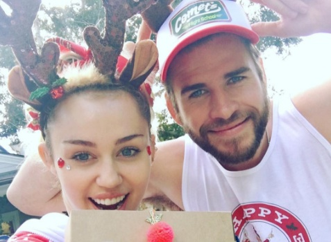 Liam Hemsworth MADE Miley Cyrus a rainbow moon earring, and #COUPLEGOALS for life!