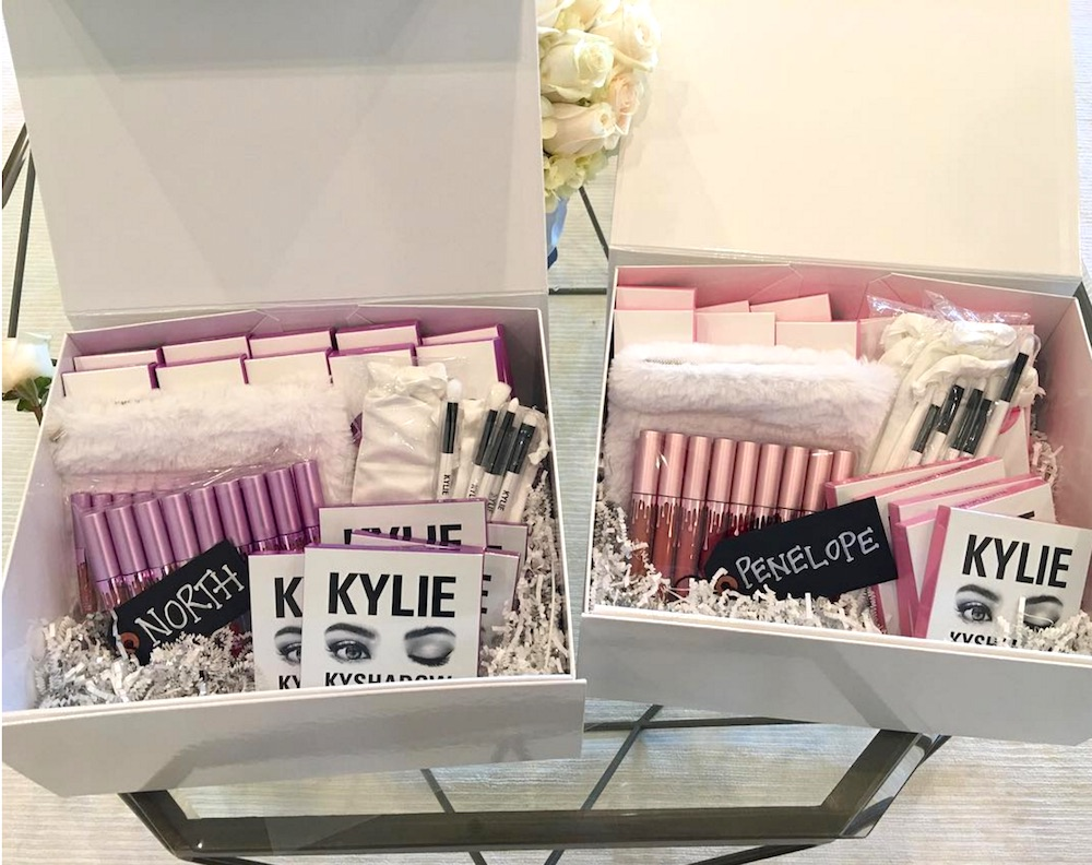 Kylie's custom Kylie Cosmetics gifts to Penelope Disick and North West is the cutest thing ever