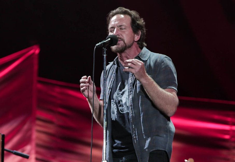 Eddie Vedder from Pearl Jam donated a bunch of money to a family that was about to be evicted, and we're in awe of his generosity