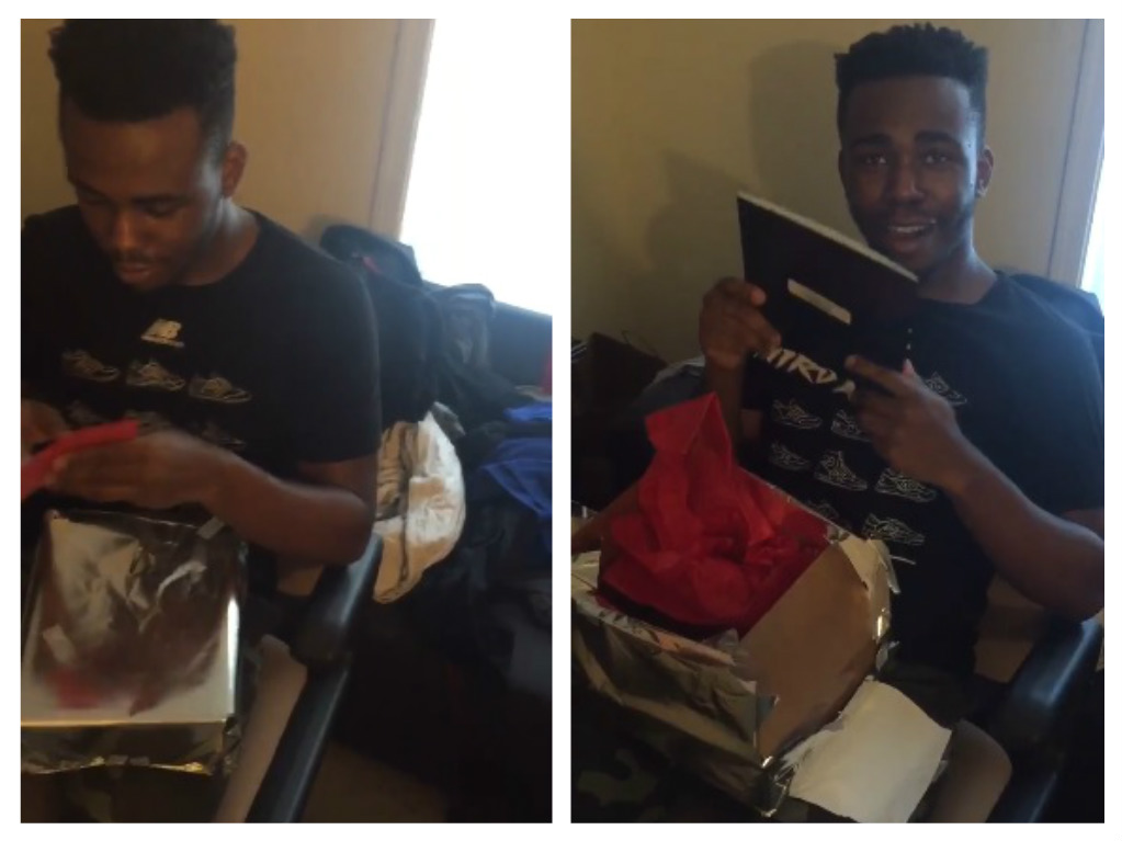 This guy's reaction to the Christmas gift he received from his girlfriend will melt your heart