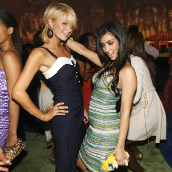 Paris Hilton and Kim Kardashian finally reunited at a Christmas party and they both looked so fab