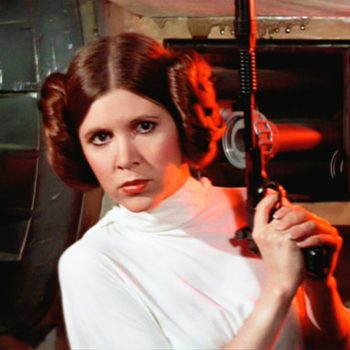 Fans are honoring Carrie Fisher by sharing adorable photos of their kids dressed as Princess Leia