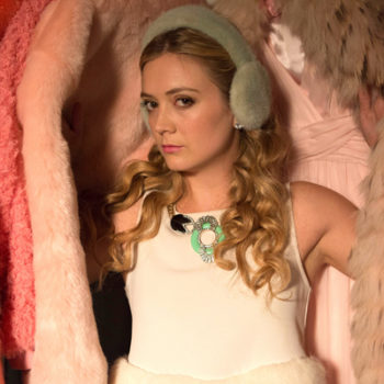 "Billie Lourd's ""Scream Queens"" earmuffs are a tribute to mom's Princess Leia's buns and we can't handle the sweetness"