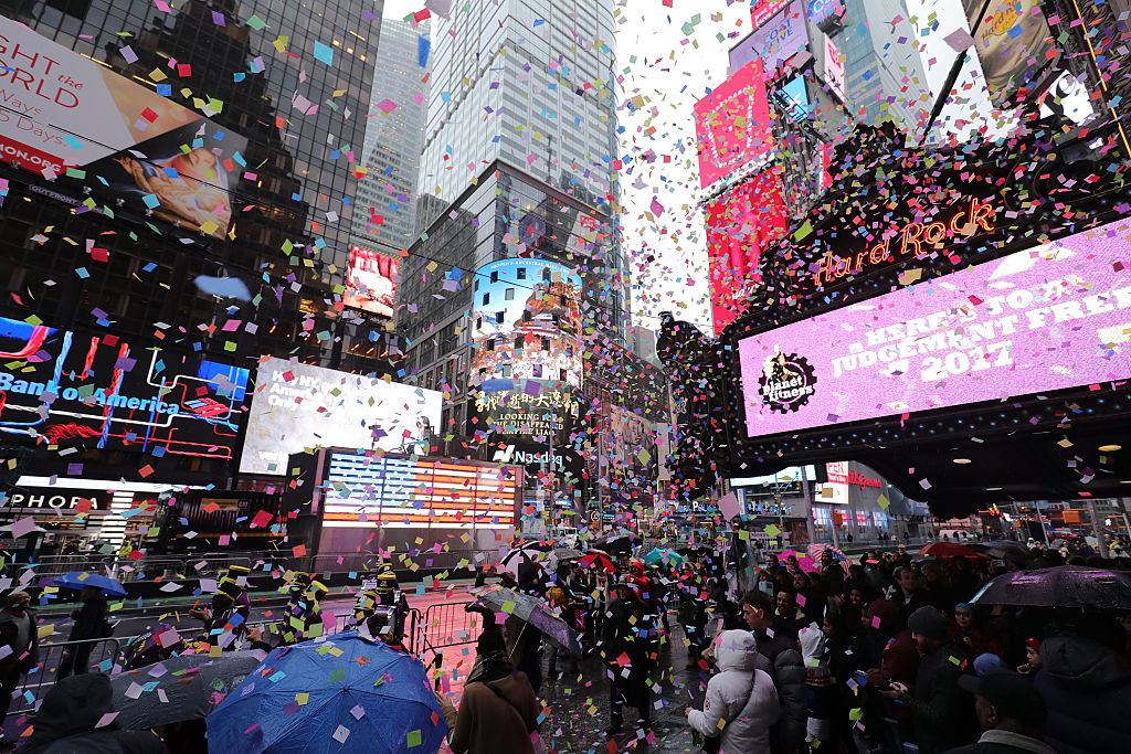 The New Year's celebration at Times Square will feature trucks filled with sand for a pretty scary reason
