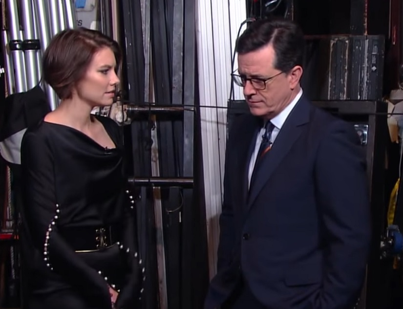 "Lauren Cohan from ""The Walking Dead"" gave Stephen Colbert a few hilarious tips for dealing with zombie crushes"