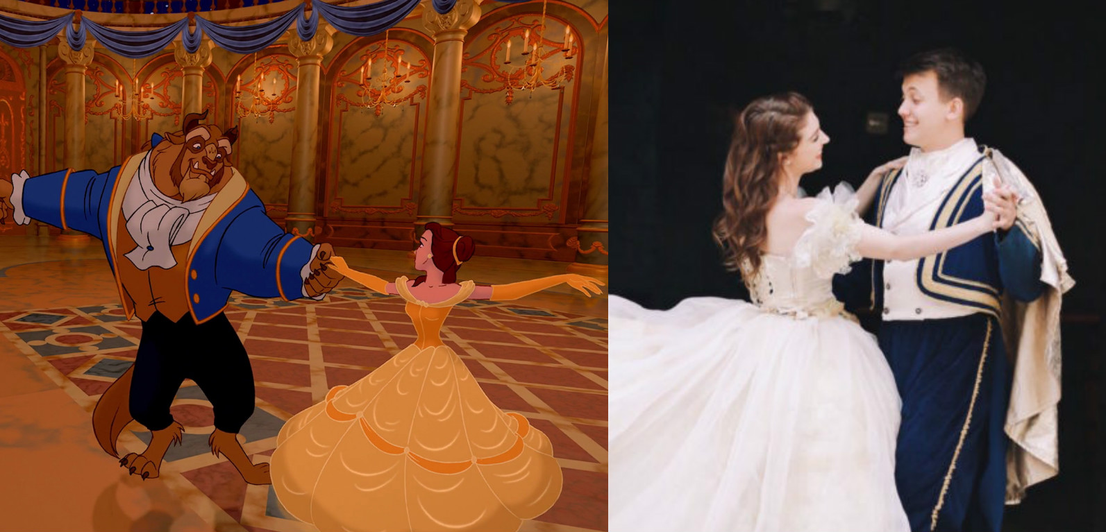 "This ""Beauty and the Beast"" engagement photo shoot is literally what dreams are made of"