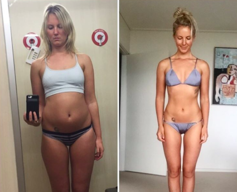 These side-by-side photos prove weight and health have nothing to do with each other