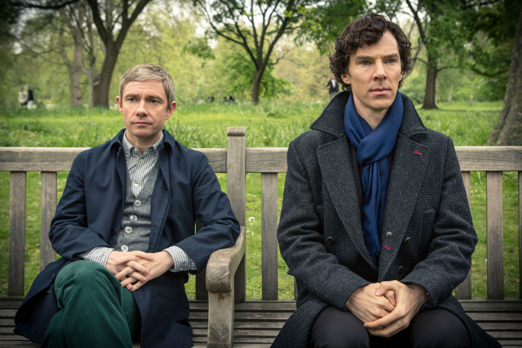 "These behind-the-scenes images from ""Sherlock"" Season 4 are too precious for words"