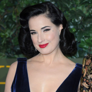 We're obsessed with this classy trick Dita Von Teese uses to hide her TV