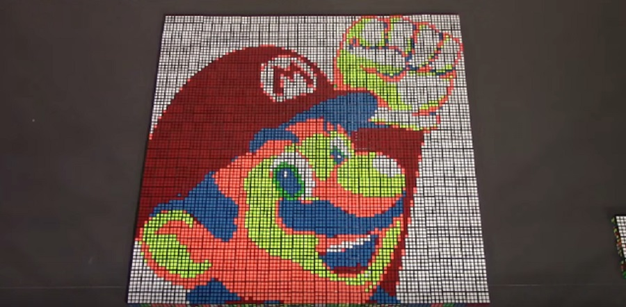 Here's a Super Mario Bros. stop-motion film made out of Rubik's cubes and it's absolutely genius