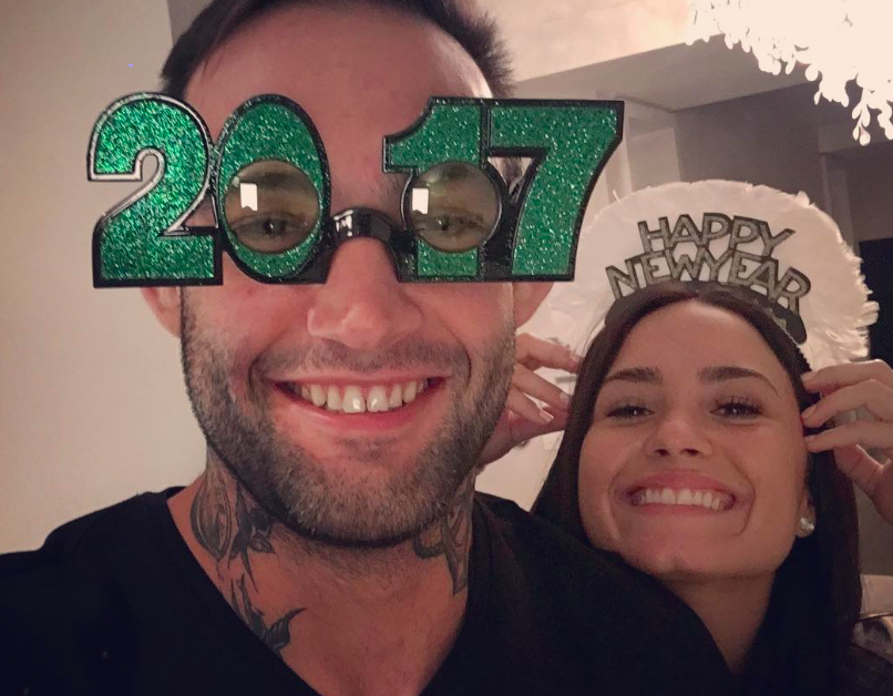 Demi Lovato spent New Year's with her new bae and we think they are super cute