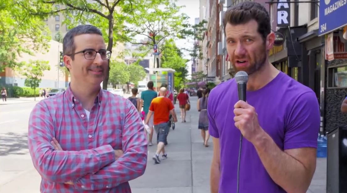 Billy Eichner and John Oliver are the dream team we need in the new year
