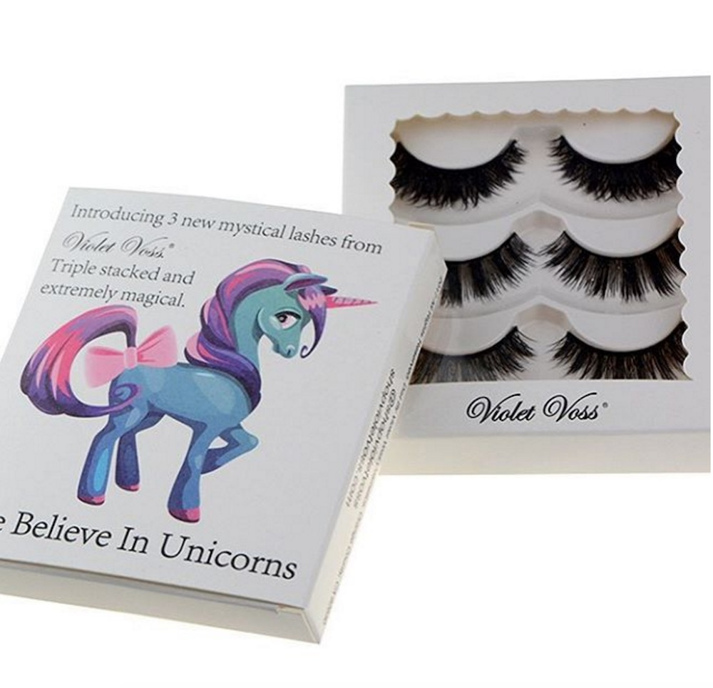 Unicorn lovers are going to freak out over Violet Voss' upcoming fake lash set