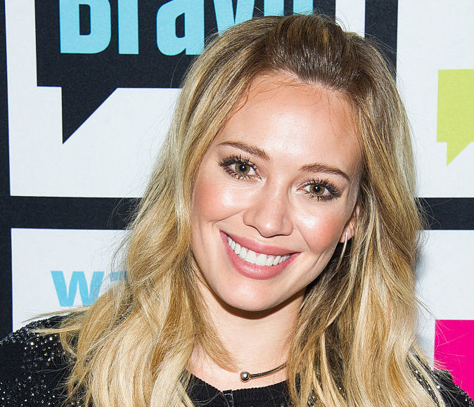 Hilary Duff's high-neck bathing suit has us wishing it was summer, like, yesterday