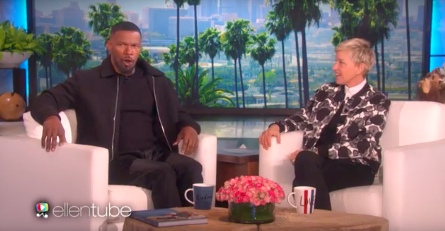 "Jamie Foxx showed off his hilarious Denzel Washington impression on ""Ellen"" and he nailed it"