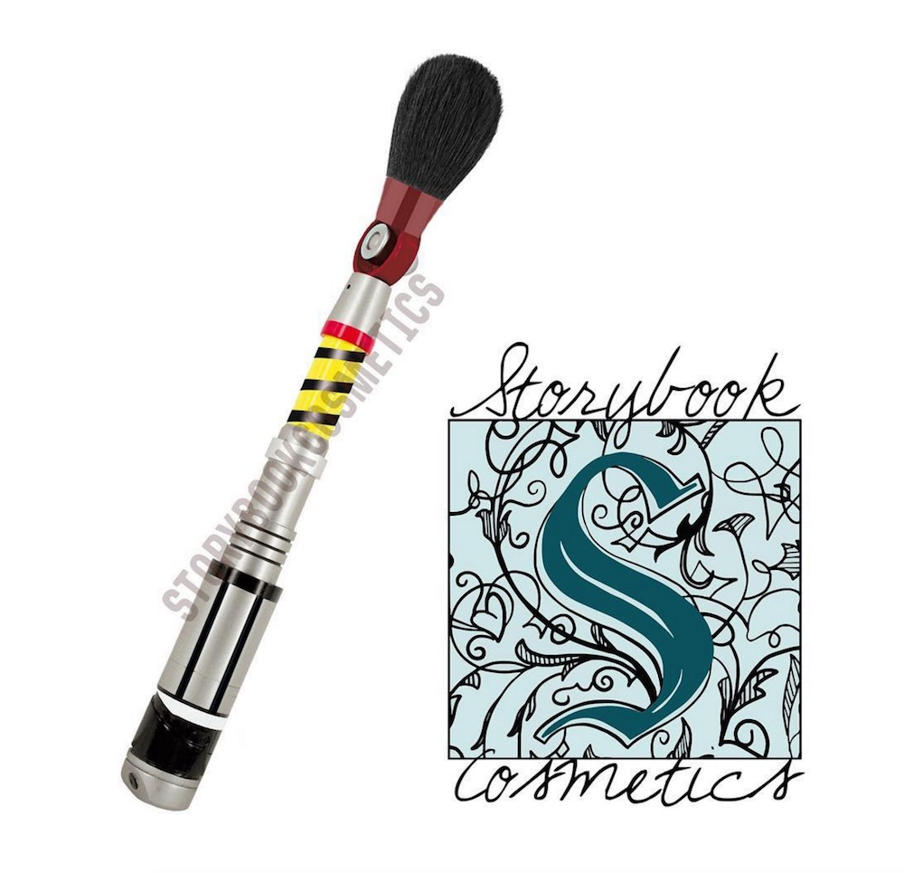 "Storybook Cosmetics is possibly coming out with a ""Doctor Who"" brush and we are SO excited"
